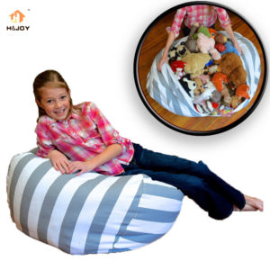Creative Modern Storage Stuffed Animal Bean Bag Portable Kids Toy For Storage Bag & Organizer Tool
