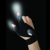Fingerless Glove LED Flashlight Torch Outdoor Fishing Camping Hiking Magic Strap Survival Rescue Tool Light Left