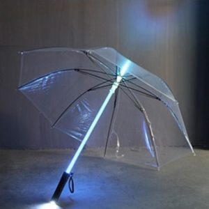 Great Gift LED umbrella umbrella rain women men Light Flash Umbrella Night Protection Multicolor
